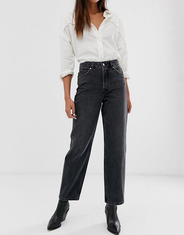 jeans hög midja raka ben