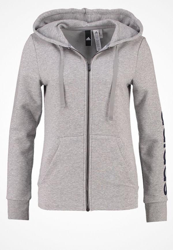 Adidas Performance ESSENTIALS LINEAR Sweatshirt medium grey heather