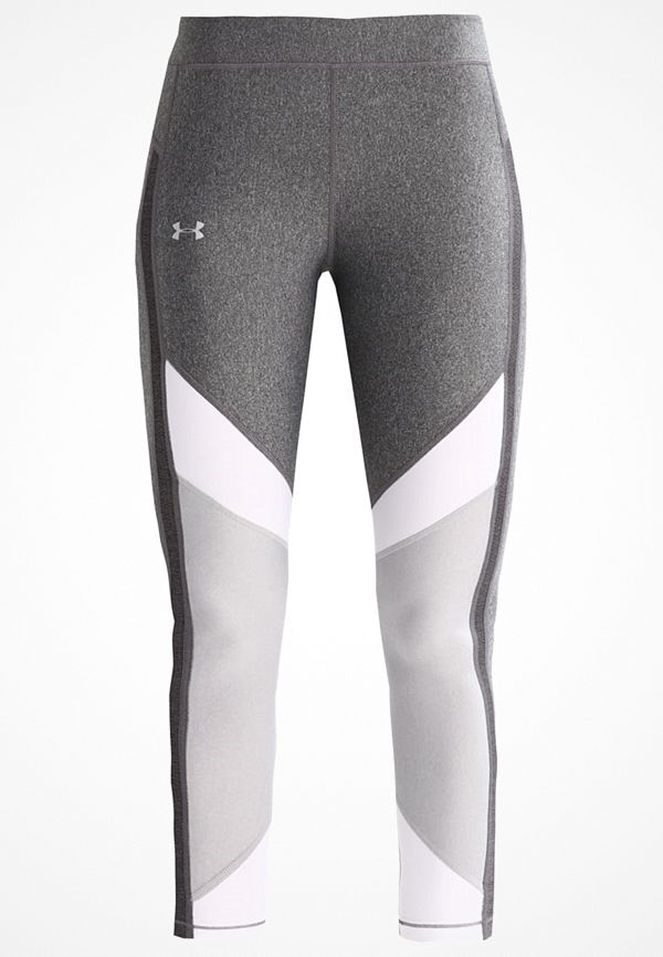 Under Armour COLOR BLOCKED Tights carbon heather/white/metallic silver