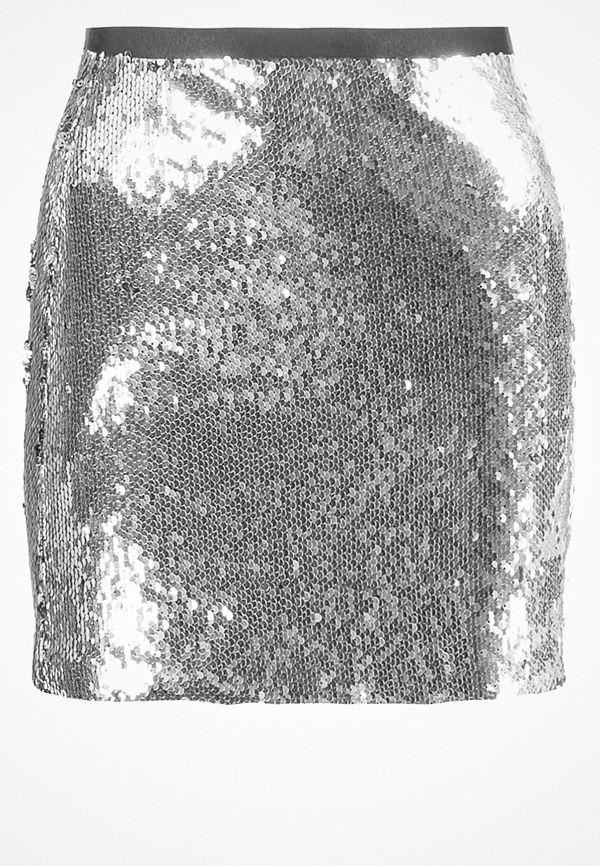 Topshop Minikjol silver