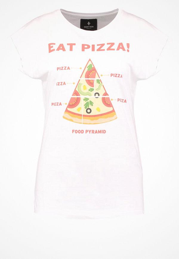 Saint Noir PIZZA Tshirt med tryck white