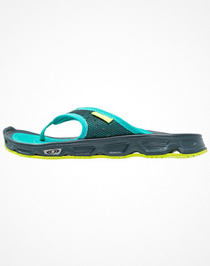Salomon RX BREAK  Flipflops reflecting pond/deep peacock blue/lime green