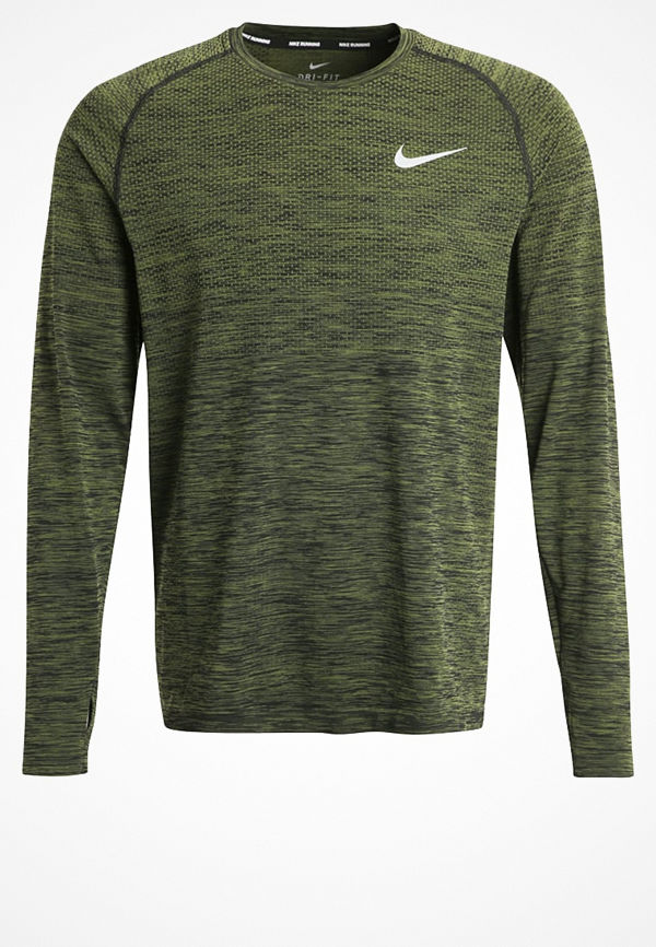 Nike Performance Tshirt långärmad black/legion green/reflective silver