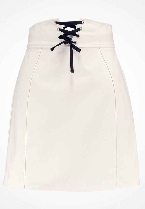 Topshop B&B CORSET LACE UP Minikjol ivory