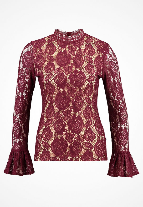 Dry Lake MYTHOLOGY BLOUSE Blus burgundy lace