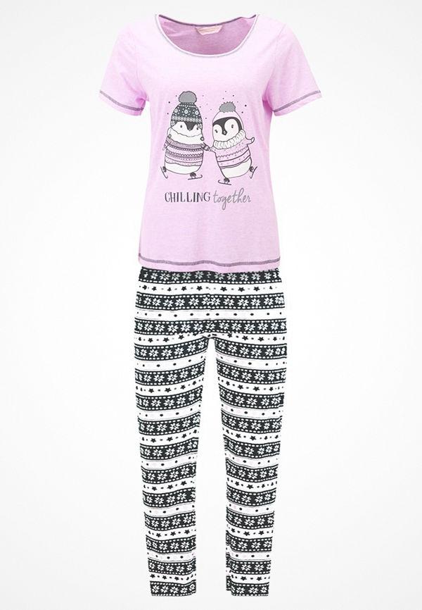 Dorothy Perkins CHILLING TOGETHER PENGUIN SET Pyjamas pink