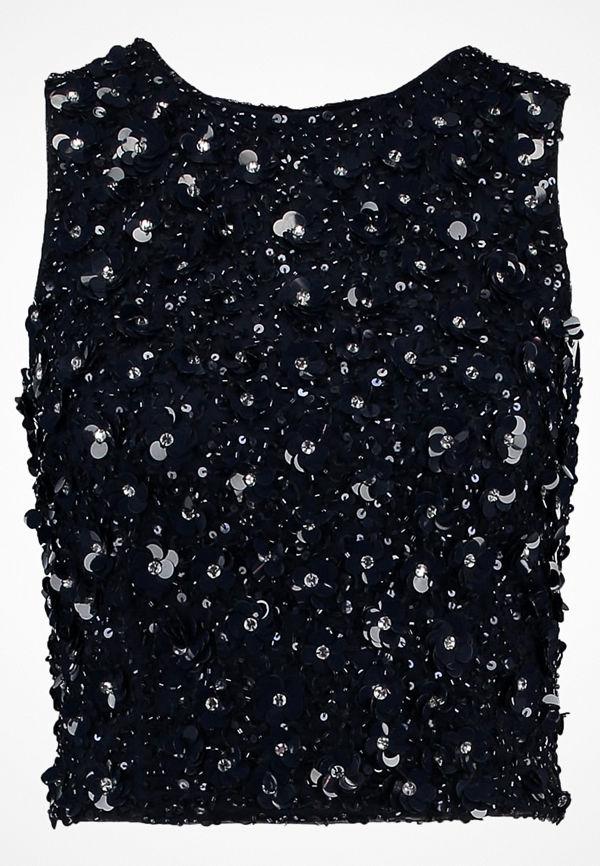 Lace & Beads Tall HAZEL  Linne midnight blue