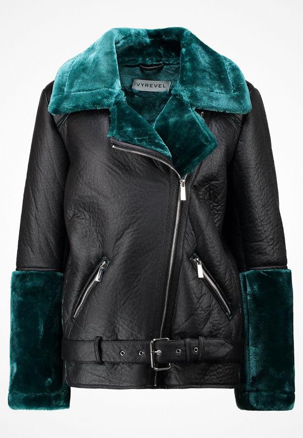 Ivyrevel THRILL Jacka i konstläder black/green