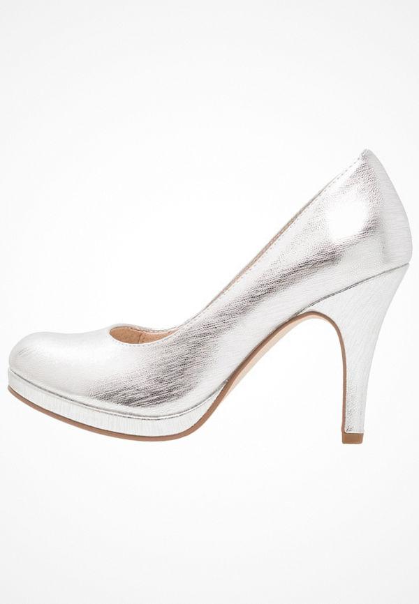 Tamaris Klassiska pumps silver