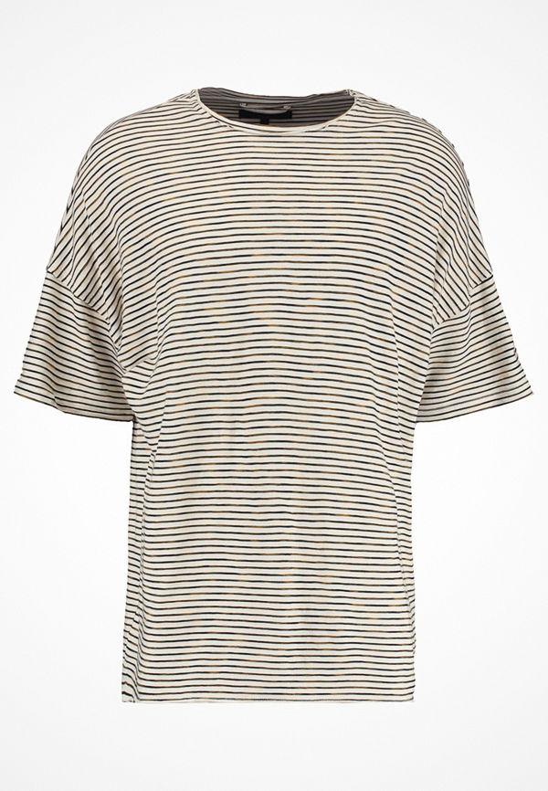 Mennace DROP SHOULDER STRIPE Tshirt med tryck off white