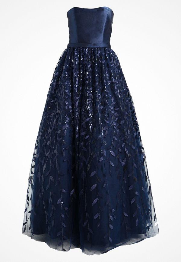 Luxuar Fashion Festklänning navyblau