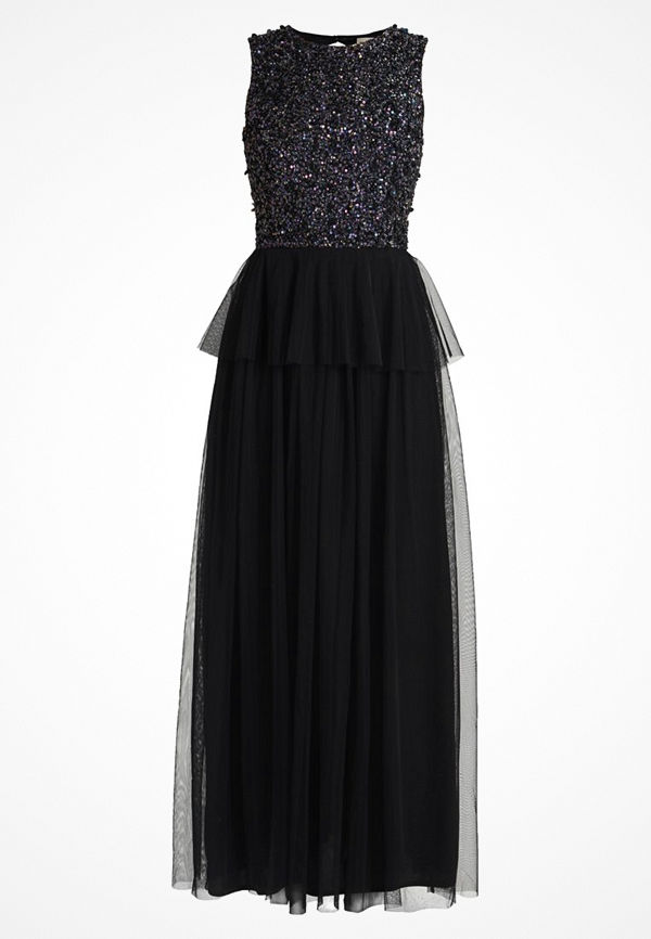 Lace & Beads AURA MAXI Festklänning black iridesescent