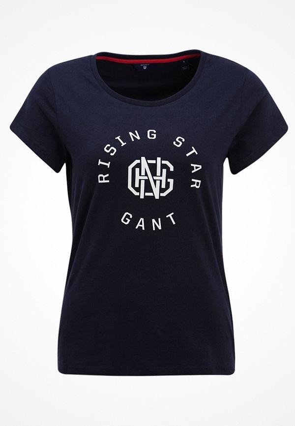 Gant RISING STAR Tshirt med tryck evening blue