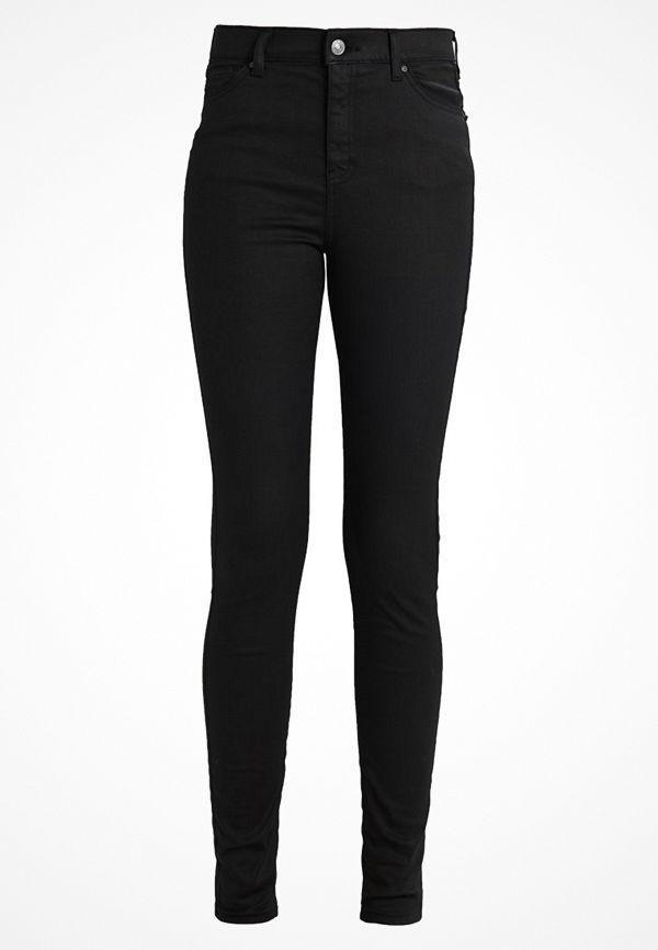 Topshop Tall JAMIE Jeans slim fit coated black