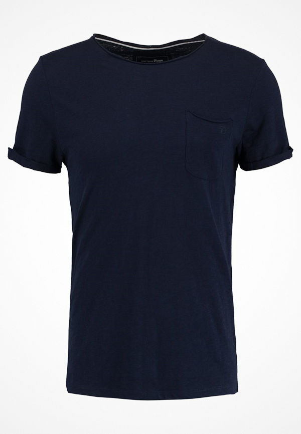 Tom Tailor Denim TEE WITH POCKET Tshirt bas night sky blue
