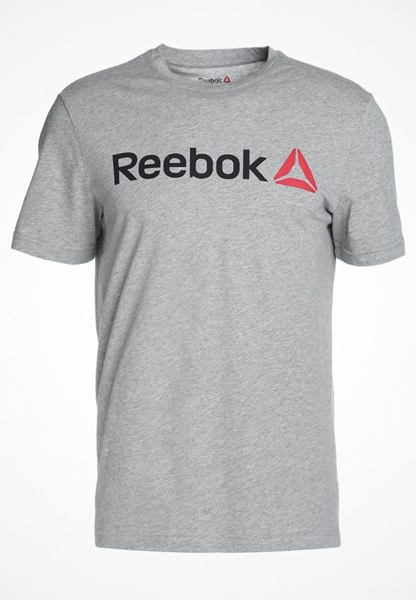 Reebok LINEAR READ Tshirt med tryck medium grey heather
