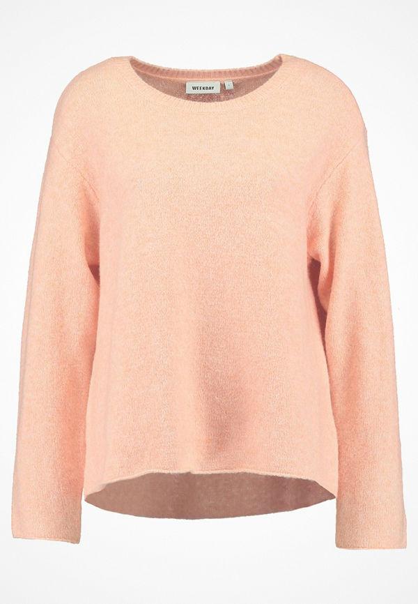Weekday WISH Stickad tröja pink