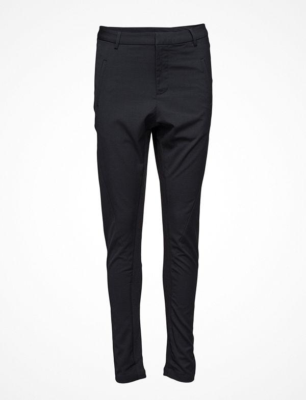 Saint Tropez svarta byxor Pants With Rib Inserts