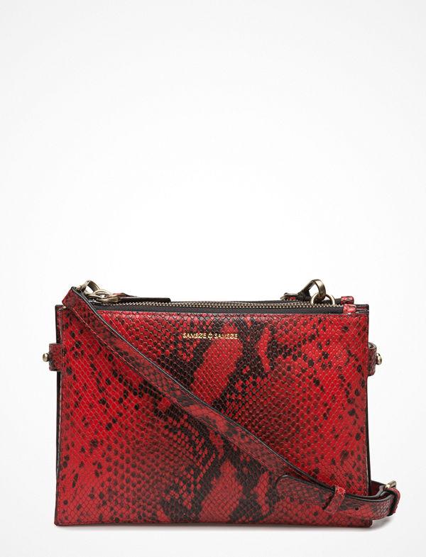 Samsøe & Samsøe mörkröd mönstrad axelväska Ruby Shoulder Bag 9391