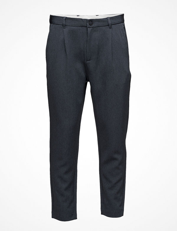 Selected Homme Shdrich Blue Tapered Crop St Trouser