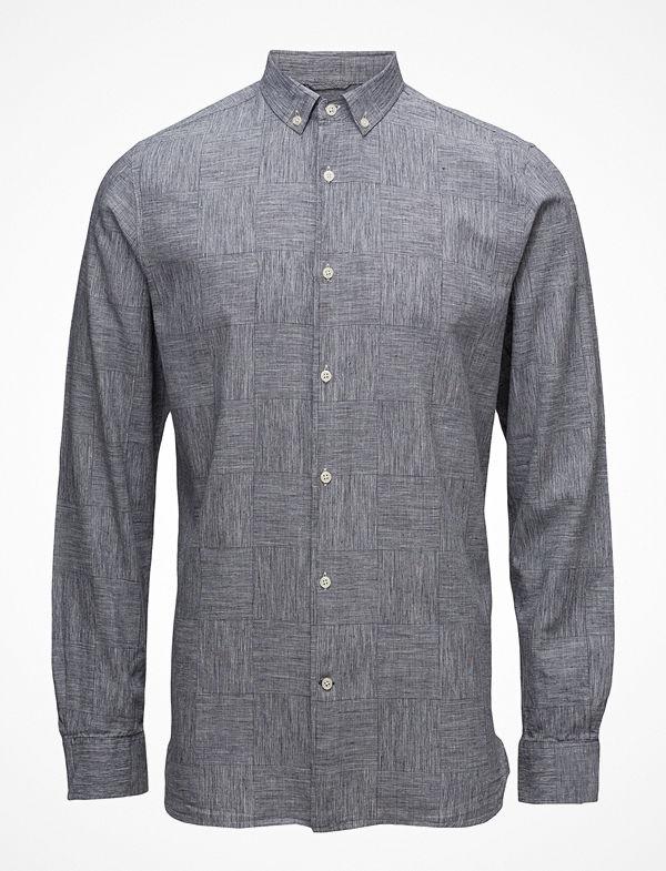 Knowledge Cotton Apparel Big Checked Co/Linen Shirt - Gots