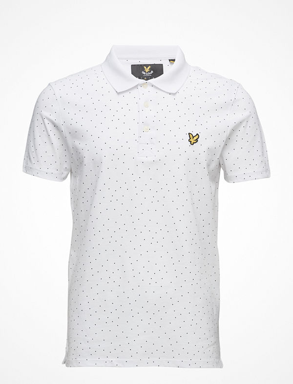 Lyle & Scott Mini Square Dot Polo Shirt