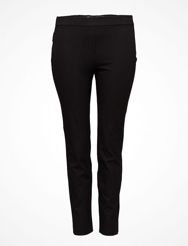 Violeta by Mango svarta byxor Flowy Straight-Fit Trousers