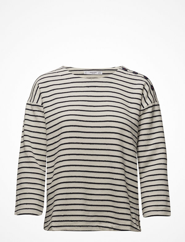 Mango Textured Striped Sweatshirt