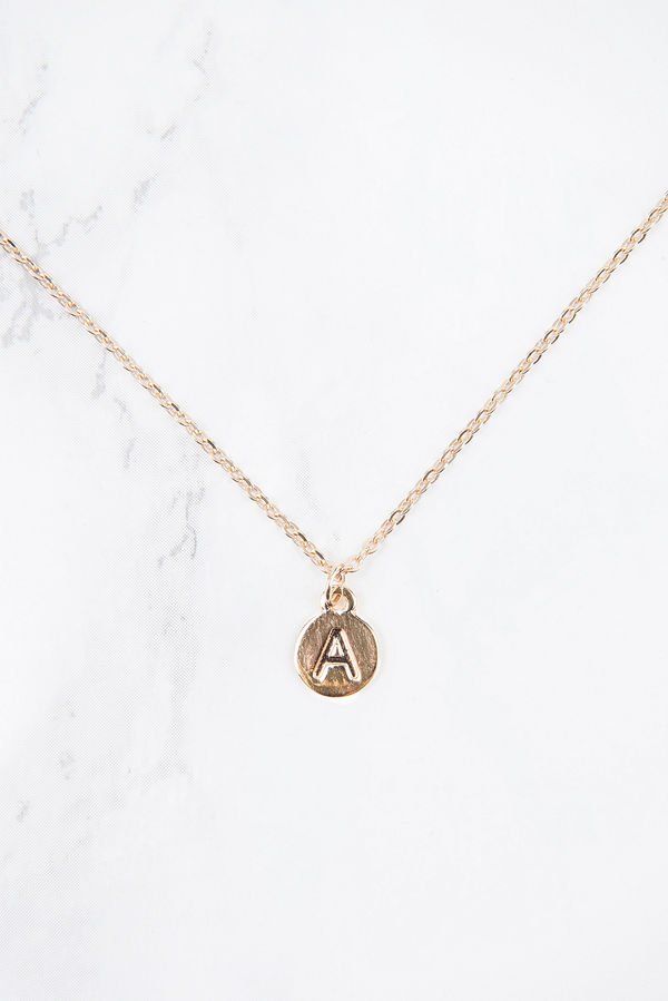 NA-KD Accessories Letter Charm Necklace - Smycken