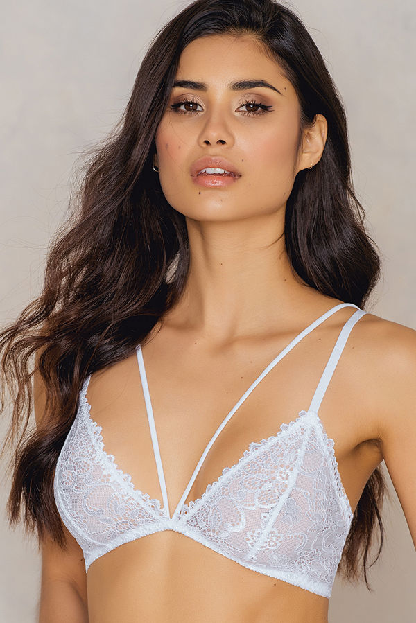f478c224311d4 NA-KD Lingerie Lace Double Strap Bra - BH ar - BH online - Modegallerian
