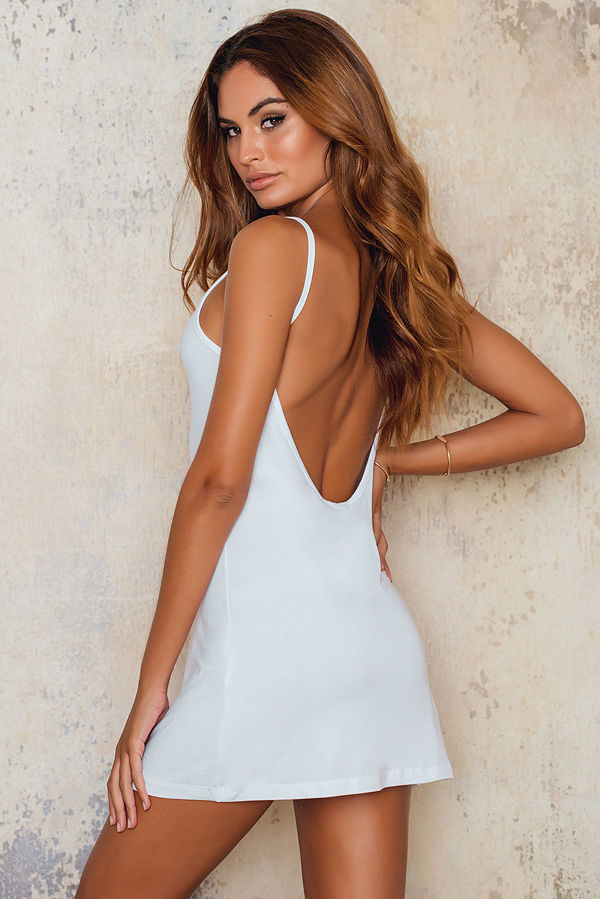 NA-KD Basic NA-KD Basic Deep Back Dress vit