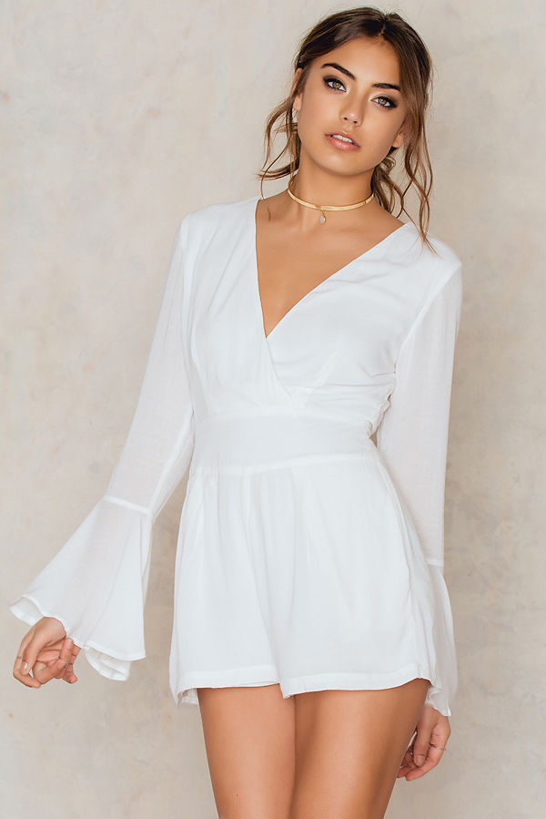 Toby Heart Ginger Charlie Flare Sleeve Playsuit