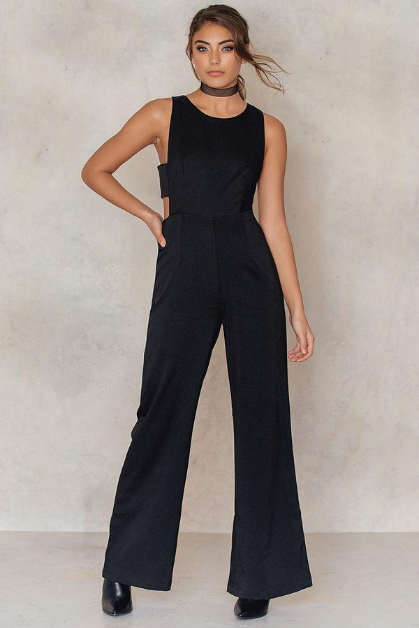 Glamorous Side Strap Boot Cut Jumpsuit