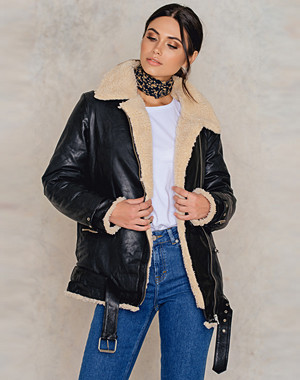 IMVEE Loose Leather Jacket
