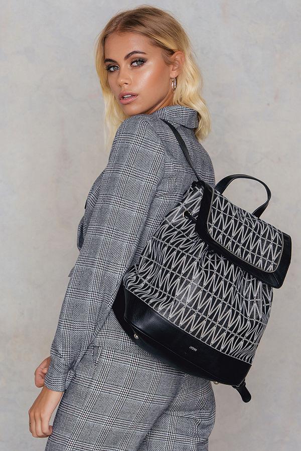 Dagmar mönstrad ryggsäck Backpack Bag