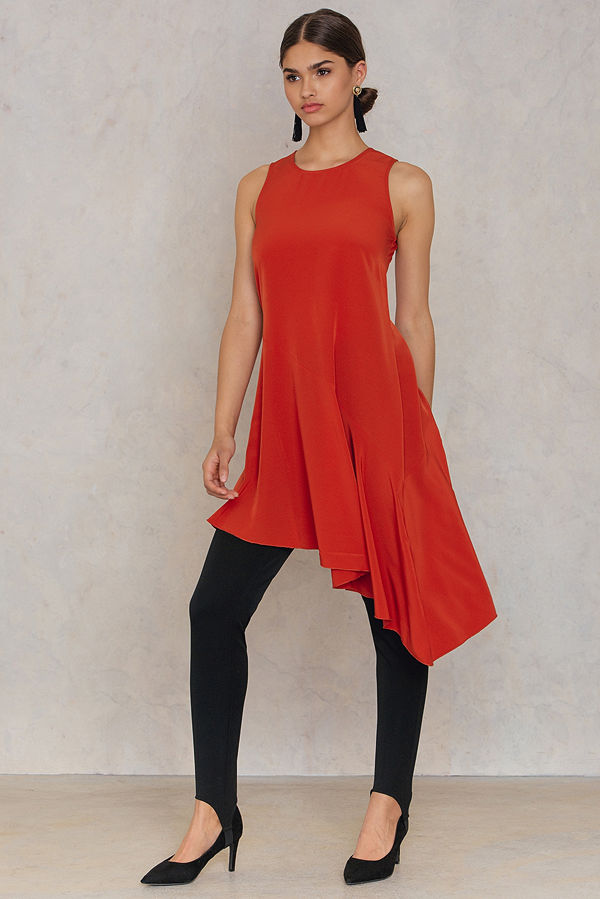 Trendyol Asymmetric Frill Dress - Festklänningar