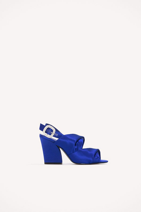 NA-KD Shoes Peep Toe Block Sandals - Högklackat