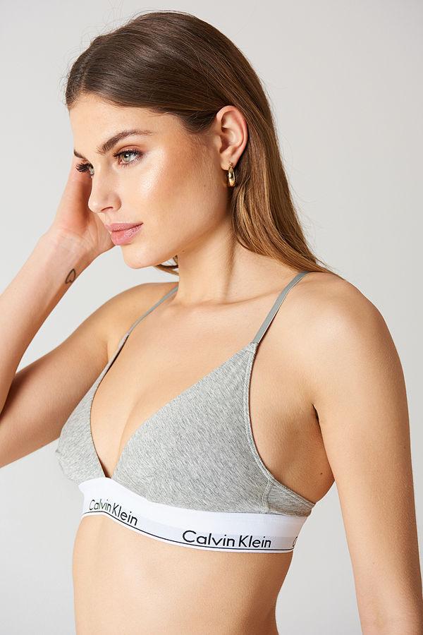 Calvin Klein Triangle Bra Modern Cotton grå