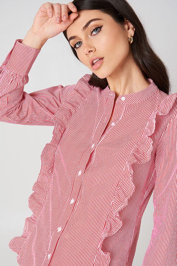 Rut & Circle Malina Stripe Shirt rosa multicolor