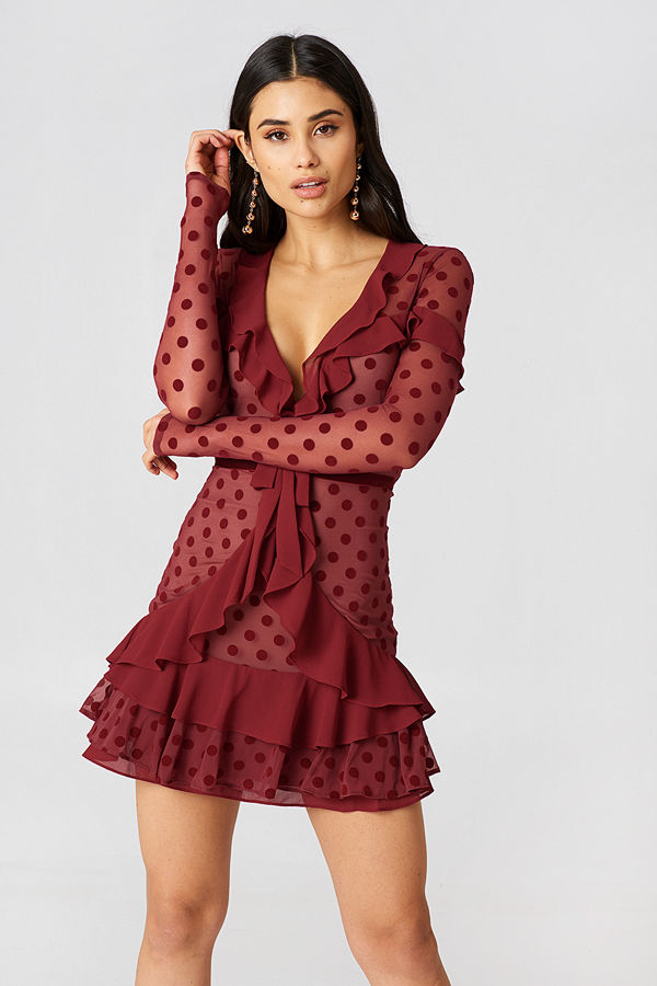 For Love & Lemons Dotty Mini Dress - Miniklänningar
