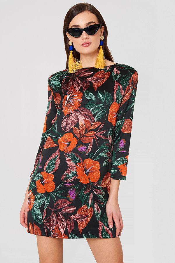 70e5a4787bcd Mango Floral Pattern Dress multicolor - Festklänningar online ...