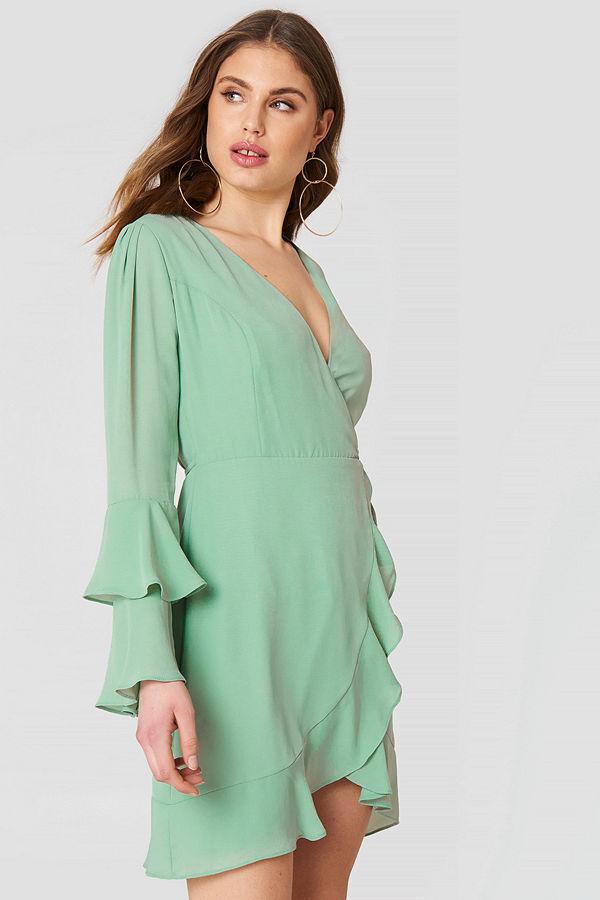 Trendyol Frill Detailed Overlap Dress