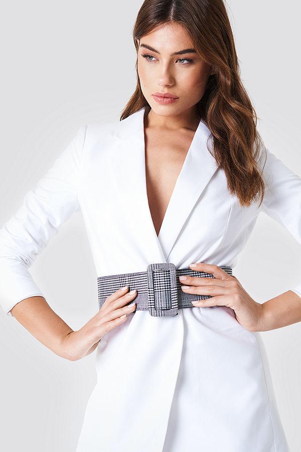 NA-KD Accessories Checkered Waist Belt - Bälten och skärp