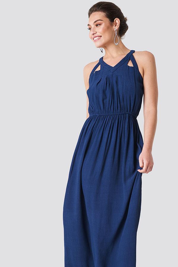 Rut & Circle Hip Long Dress blå