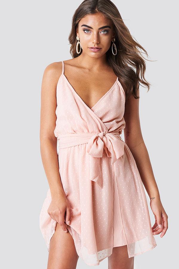 Iva Nikolina x NA-KD Chiffon Short Dress - Festklänningar