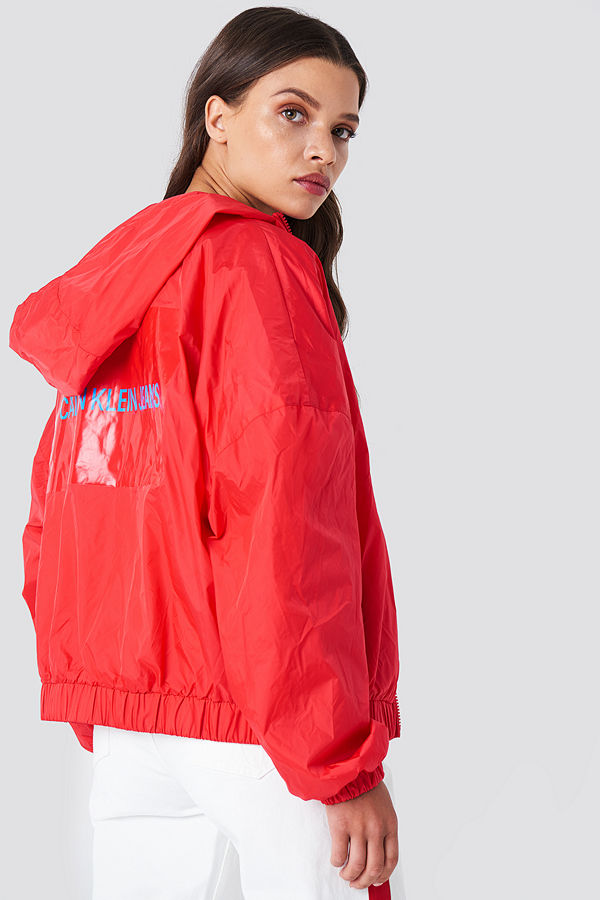 Calvin Klein Hooded Zip Up Nylon Windbreaker - Jackor