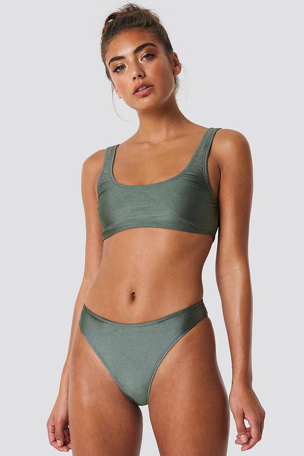 NA-KD Swimwear Sporty Bikini Briefs grön