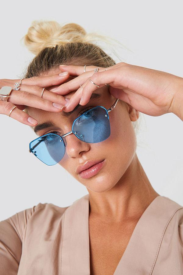 NA-KD Accessories Angular Metal Cat Eye Sunglasses - Solglasögon