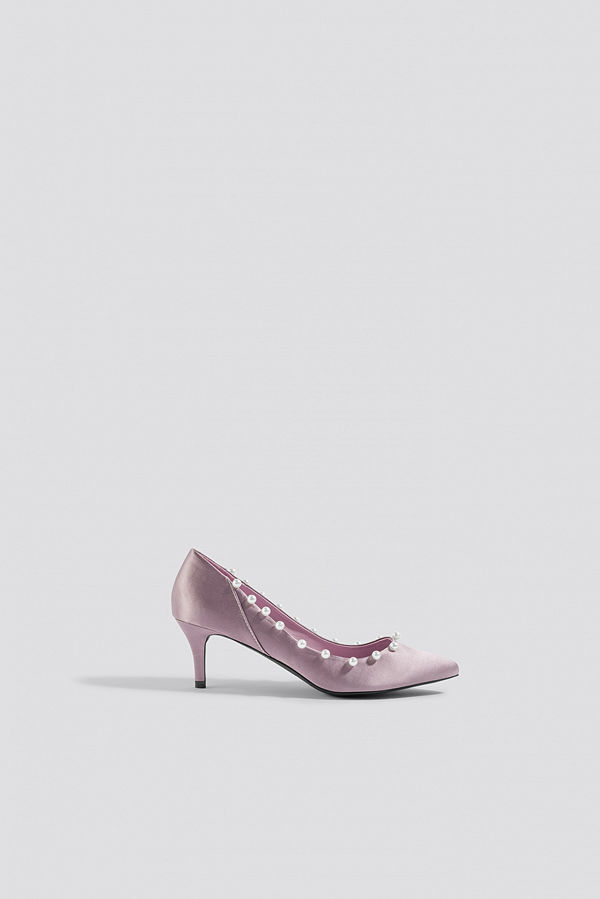 NA-KD Shoes Pearl Detail Pumps lila