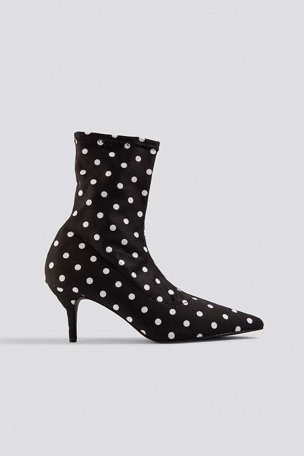 NA-KD Shoes Dotted Sock Boots svart